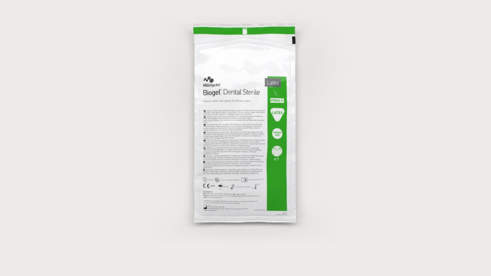 Biogel Dental Sterile natural rubber latex glove for dental